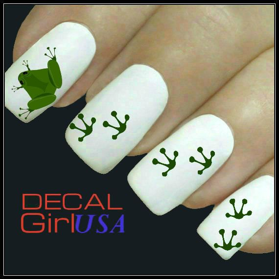Nail Art Decals 32 Frog Nail Decals by DecalGirlUSA on Etsy, $3.99