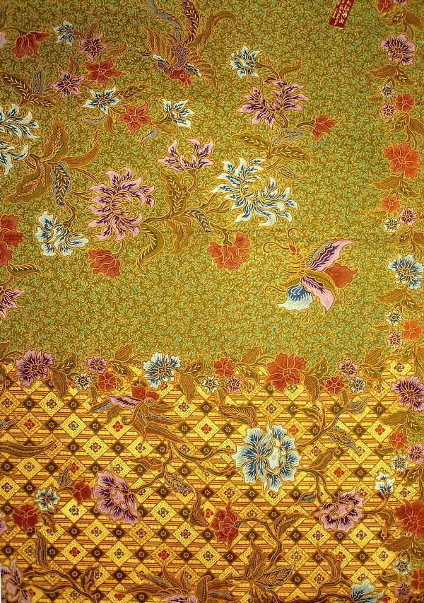 Indonesian Javanese Kain Batik Textile/fabric, quilting, pillow cases, dress k41