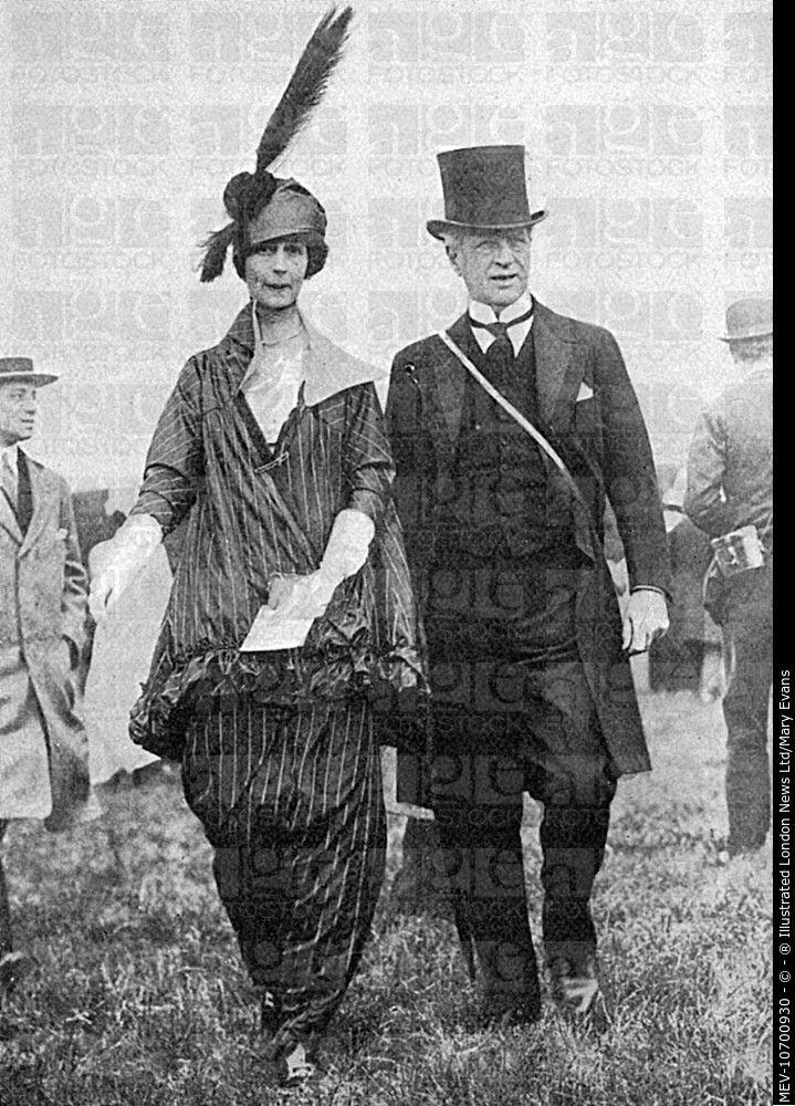 Consuelo Vanderbilt | Th American heiress and first wife of Charles Spencer-Churchill, 9th Duke of Marlborough pictured with a friend at the Epsom Derby in 1914. MEV-10700930 © ® Illustrated London News Ltd/Mary Evans