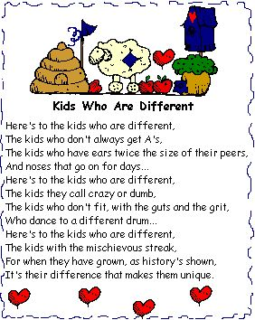 Kids who are different Yep we definitely have at least one  (Maybe more) of these