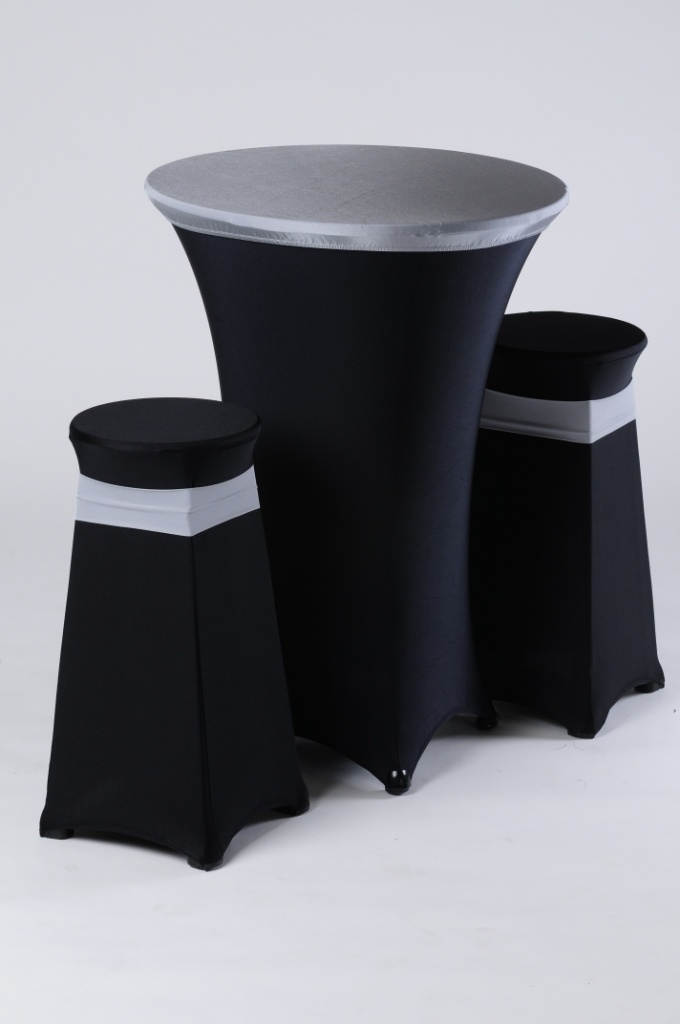 Spandex Cocktail Table Covers Look Fancy And Suave