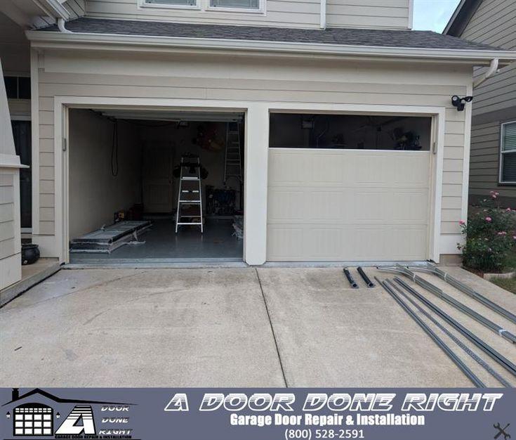 A Door Done Right Is Replacing Both Garage Doors As Well As Installing All New Hardware Garage Doors Garage Doors