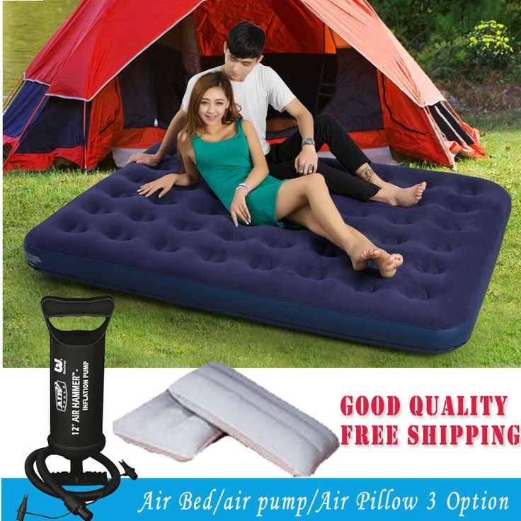 83.92$  Watch now - http://ali4na.worldwells.pw/go.php?t=32701822642 - DHL TNT high quality 200*152*22cm double plus size air mattress set inflatable bed,travel camping mattress floking material