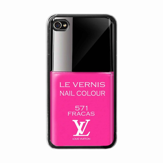 iPhone 4 /4s hard case  Pink Nail Polish Louis Vuitton  by BeeCase, $15.00 θελω αυτη με το iphone 4 μεσα ,οκ?