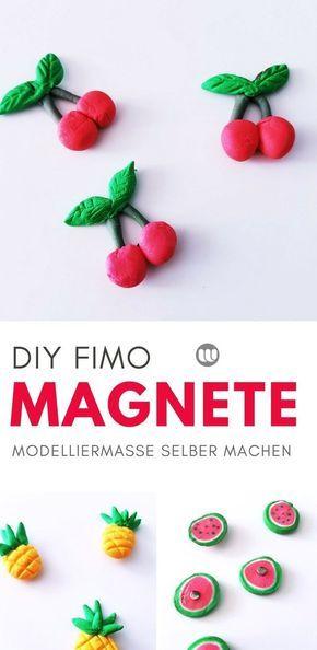 DIY Kühlschrank-Magnete: Fruchtige Magnete aus Modelliermasse selber machen