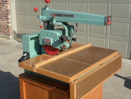 how to build a radial arm saw table