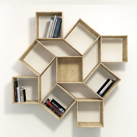 Squaring by Lee Sehoon: Interiors Inspiration, Inspiration Ideas, Extended Bookca, Squares Bookcases, Circles Shelves, Design Shelf, Book Shelves, Lee Sehoon, Shelves Squares