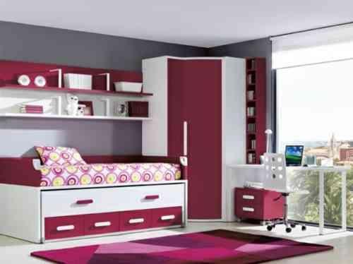 chambre ado en rose