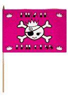 Pirate Princess Traditional Flag and Flagpole Set