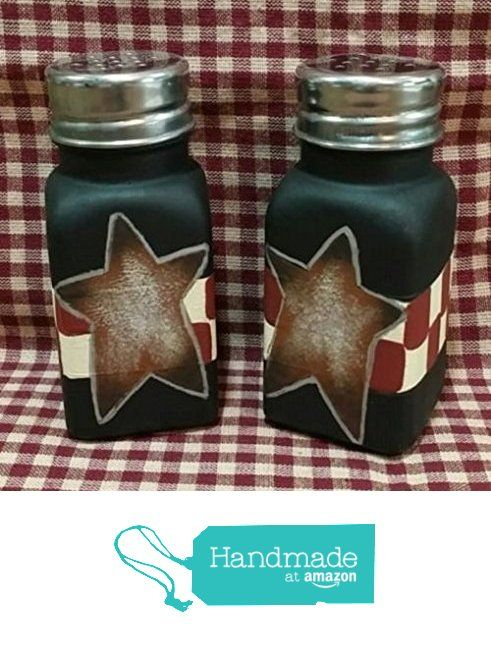 Fantastisch Primitive Retro Checkered Rusty Star Anchor Hocking Glass Salt And Pepper  Shaker Set. From Primitive. Schlichte KüchenUrtümliches ...