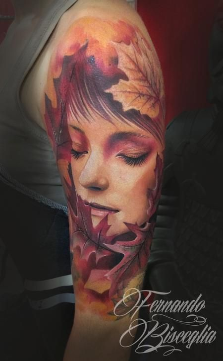 Autumn Woman - absolutely stunning work - Off the Map Tattoo