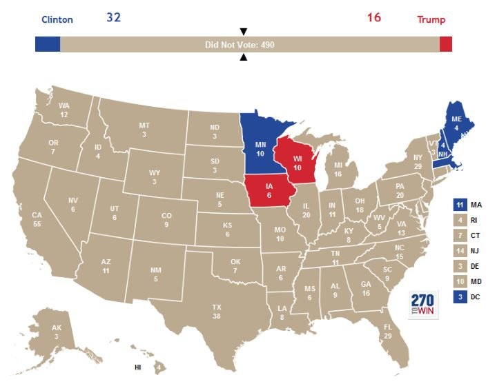 """If """"Did Not Vote"""" Had Been A Candidate In The 2016 US Presidential Election, It Would Have Won By a Landslide"""
