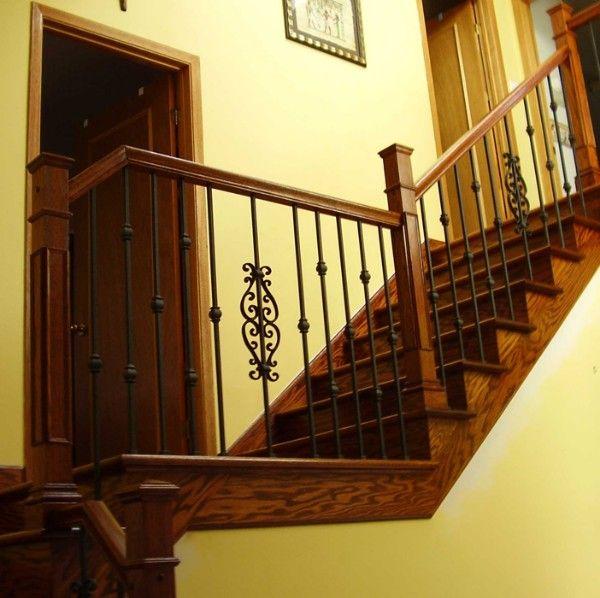 Rampe d 39 escalier garde corps et barreaux en fer forg escalier et ramp - Installation d une rampe d escalier ...