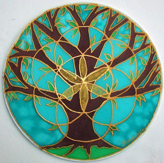 Mandala árbol de la vida regalos bajo 40 por HeavenOnEarthSilks