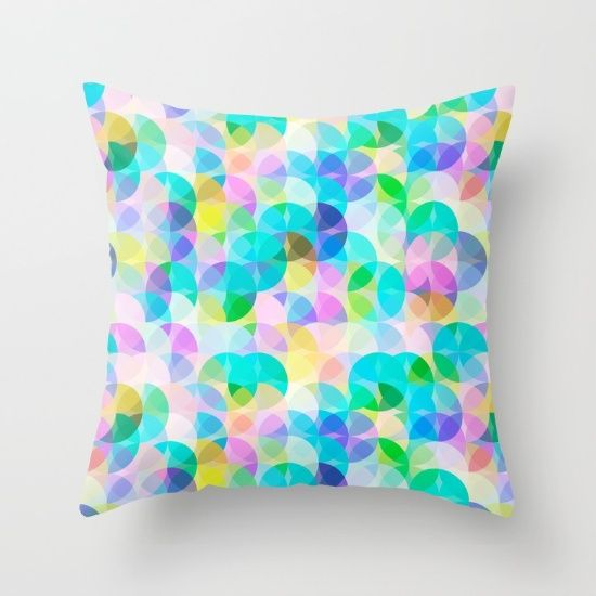 Blue Bubbles #ThrowPillow #abstract #homeDecor #livingroom