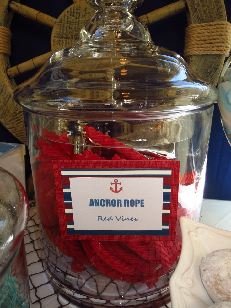 Nautical Candy Buffet- Anchor Rope by OC Sugar Mama