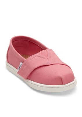 Toms Girls' Bubblegum Pink Canvas Tiny Toms Classics Shoe - Pink - 8M Toddler