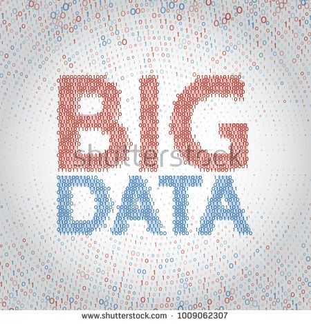 Abstract big data background with binary code. Machine learning algorithm visualization. Data sorting vector illustration.