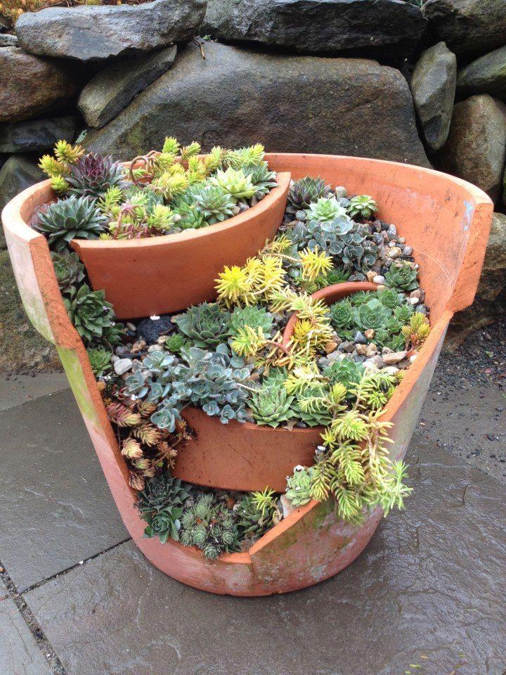 Best 25 Broken Pot Garden Ideas On Pinterest Fairy