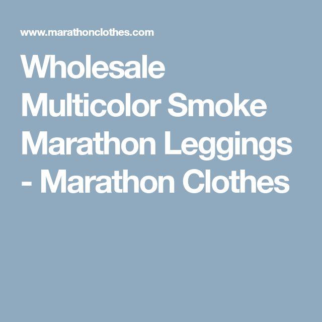 Wholesale Multicolor Smoke Marathon Leggings - Marathon Clothes