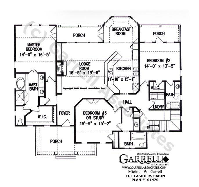 Cashiers Cabin House Plan # 01470, 1st Floor Plan, Rustic Mountain Style House Plans, Craftsman Style House Plans, Wheelchair Accessible House Plans 1st Floor Plan, Rustic Mountain Style House Plans, Craftsman Style House Plans, Wheelchair Accessible House Plans