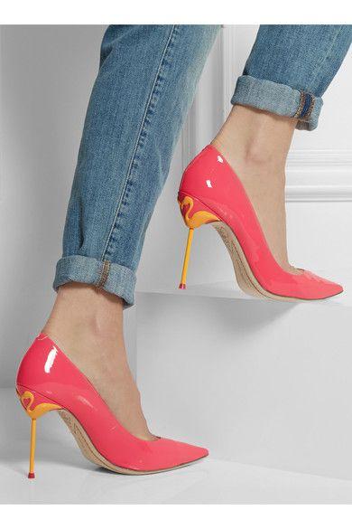 Sophia Webster | Coco neon patent-leather pumps | NET-A-PORTER.COM
