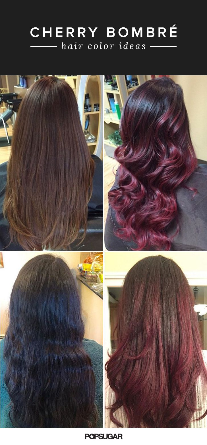 Cherry bombré is the new low-maintenance look that brunettes will love. Ombré color is designed to look like it's naturally fading, so if you're lazy about making salon appointments, your cherry bombré hair will still look good. We're loving this color trend and pumpkin spice strands for Fall!