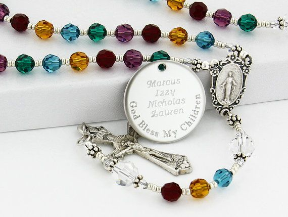 Mother's rosary All Birthstone rosary Family rosary