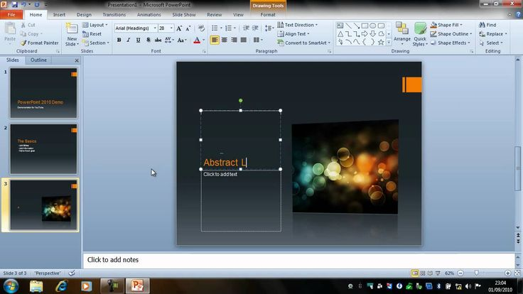 This tutorial will show you how to create a basic presentation with slide transitions and animations then save it as a PowerPoint show.