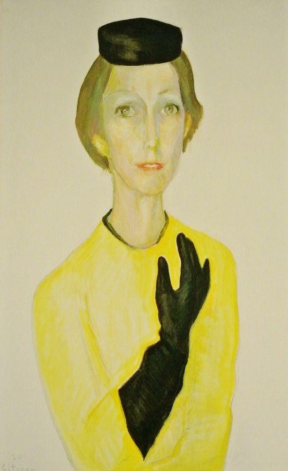 Portret van Lida Hoenig, 1974, Paul Citroen (1896-1983): http://wp.me/p1emVu-3gD