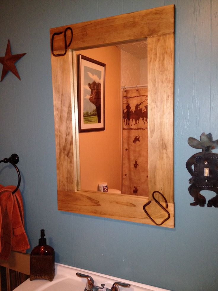 how to put a frame on a mirror
