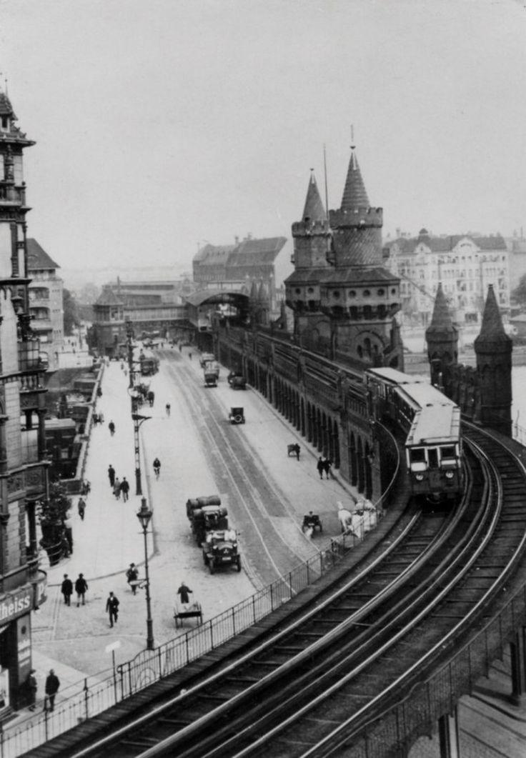 1908 Die U-Bahn auf der Oberbaumbruecke