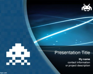 Free Space Invaders PowerPoint templates is a free PPT template that you can download to decorate your slides in Microsoft PowerPoint about space or outer space presentations