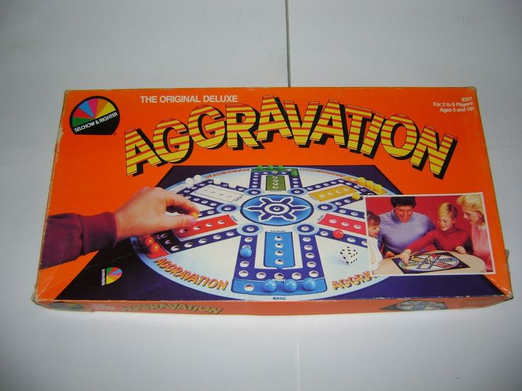 Vintage AGGRAVATION Board Game SELCHOW & RIGHTER Age 5-Adult 1987 80s | eBay