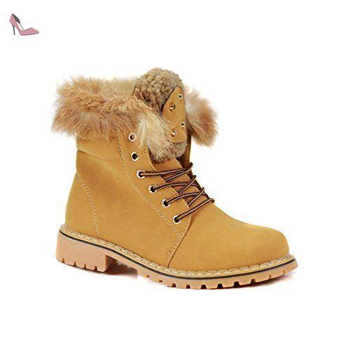 a64183454bc07f Bottines femme rangers simili daim camel fourée-41 - Chaussures primtex  (*Partner-Link)   Chaussures Primtex   Pinterest   Boots, Brown Boots et  Shoes