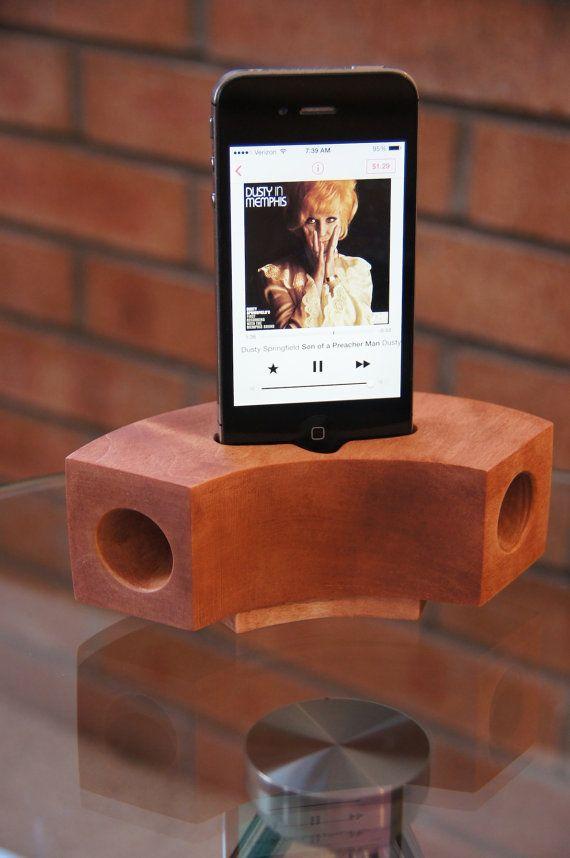Maple iphone Speaker Dock - Red Sedona $29