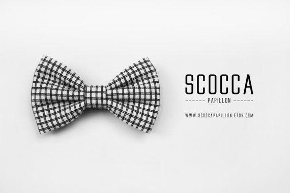 Papillon uomo  bianco e nero a quadri  cucito a di ScoccaPapillon - Bow tie man black and white plaid sewn to ScoccaPapillon | #bowtie #blackandwhite #bowties #tie #papillon #farfallino #biancoenero #BN #mens #men #menswear #male #necktie #minimal #formen #GQ #mensfaschion #etsy #boys @gqmagazine @etsy @etsyitaliateam