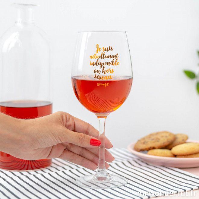 Verre à vin Je suis actuellement indisponible ou hors