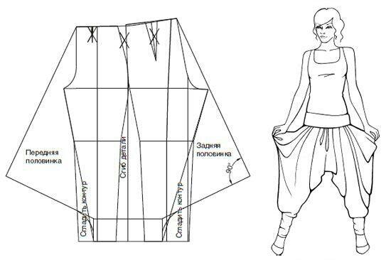 16 best arabian insp images on pinterest harem trousers for Harem pants template