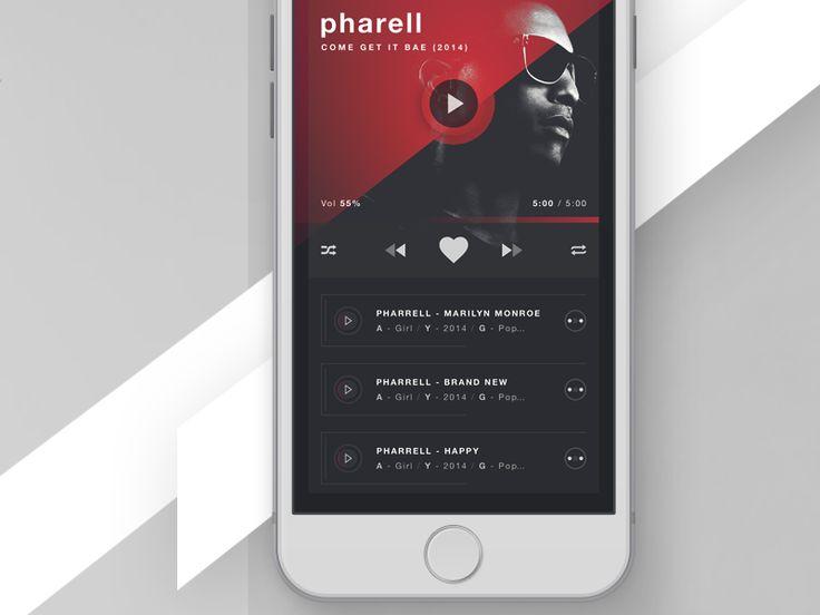 RUBRUM - iOS Music Player - Album view V2