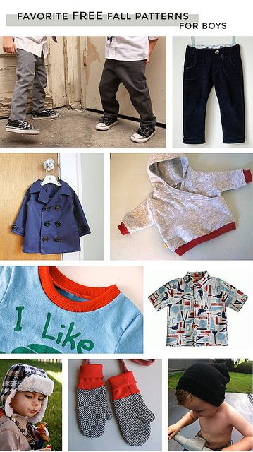 Favorite Free Fall Patterns for Boys by michaelannn, via Flickr
