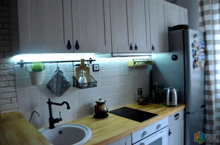 Уютная кухня фото, подсветка на кухне