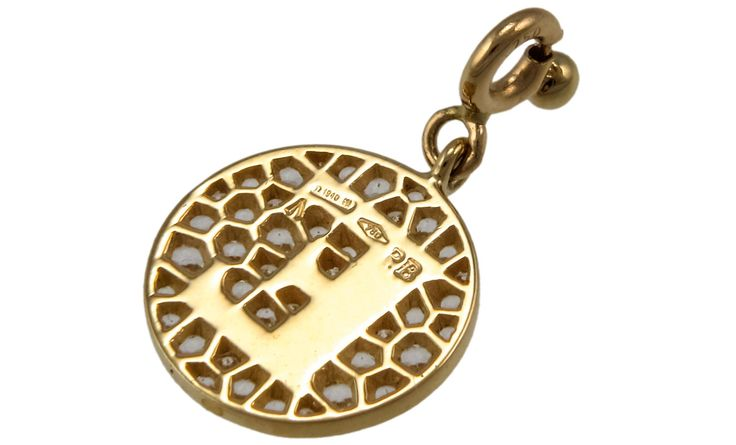 Profondo Amore 18K Yellow Gold Pendent (Gold: 2.39 g; Diamonds: 0.08 ct. twd. / Topaz: 0.45 ct. tw.) - Chain Length: 17 in