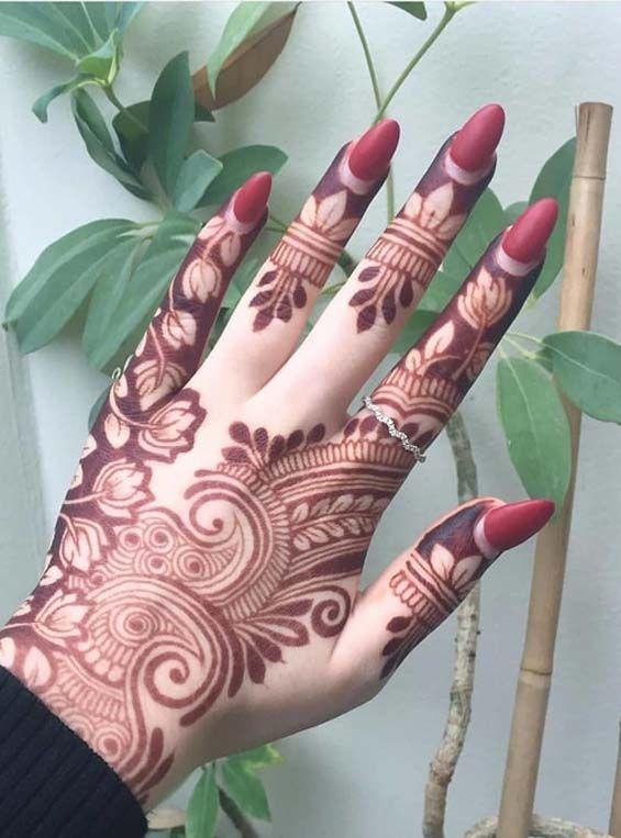 Modern Mehndi Designs Nail Arts Combo For 2019 Mehandhi