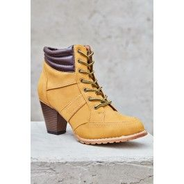 Heeled Hiking Boot
