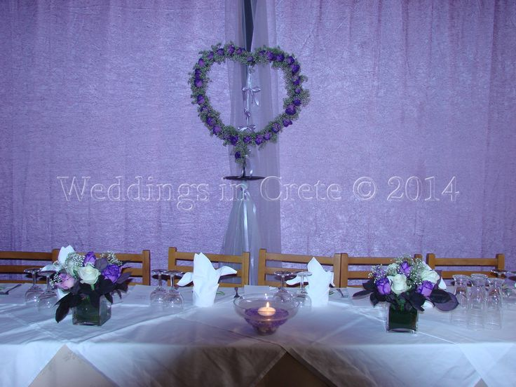 Weddings in Crete - Table Decorations