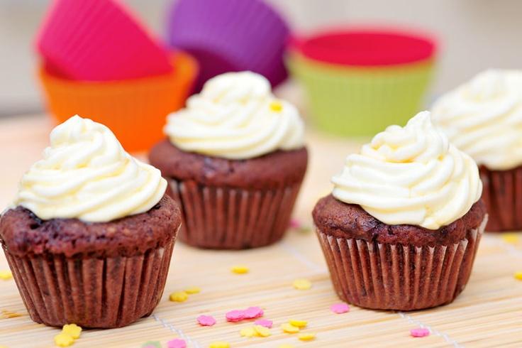Čokoládové muffiny.