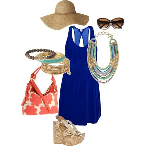 Love this look for a tropical beach vaca or a summer shopping trip! The color scheme was inspired by the gorgeous Zahara Bib Necklace.. accompanied by the Bardot Bangle, Prosper Bracelet, and the Paige Enamel Bangle! www.stelladot.com/SheaWindley for purchasing!: Color Schemes, Colors Schemes