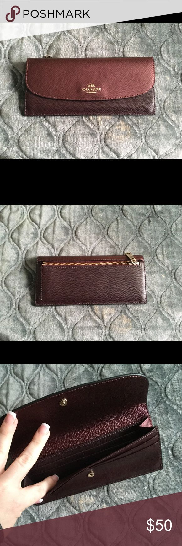 Coach wallet Coach wallet used for a month then purchased a bigger wallet Coach Bags Wallets