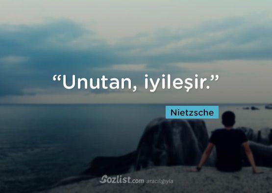 """""""Unutan, iyileşir.""""  #nietzsche #sözleri #filozof #felsefe #felsefi #kitap #anlamlı #sözler"""